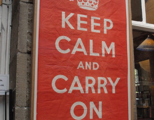 Keep calm and carry on plakát Barter Books példány