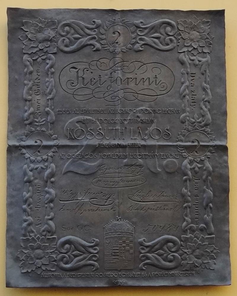 Kossuth-bankós emléktábla